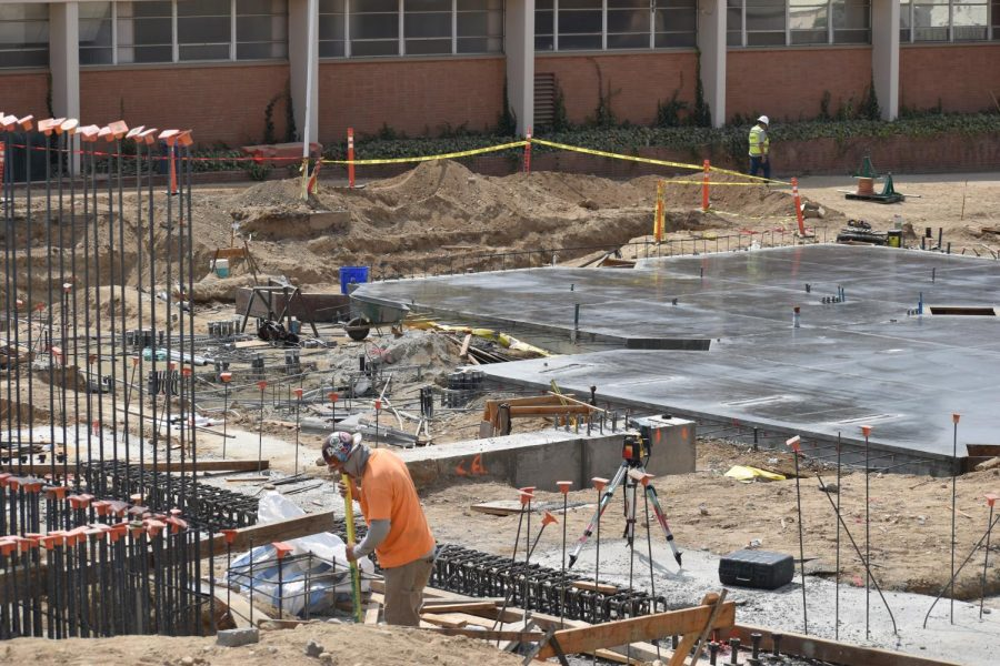 Construction at Bakersfield College is still underway