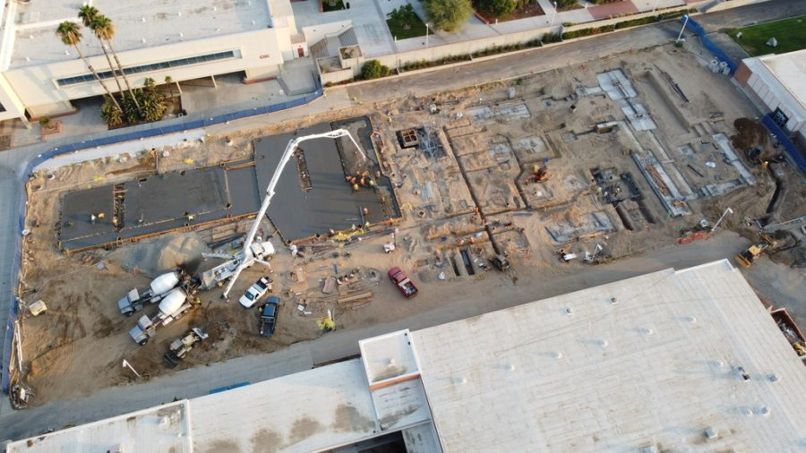 Construction in Bakersfield College are still underway