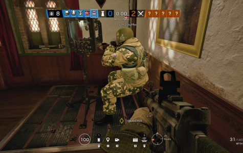 Tachanka at his turret from side.