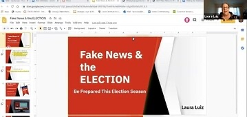Bakersfield College librarian presents a workshop showcasing fake news and how to avoid it during the current election cycle.