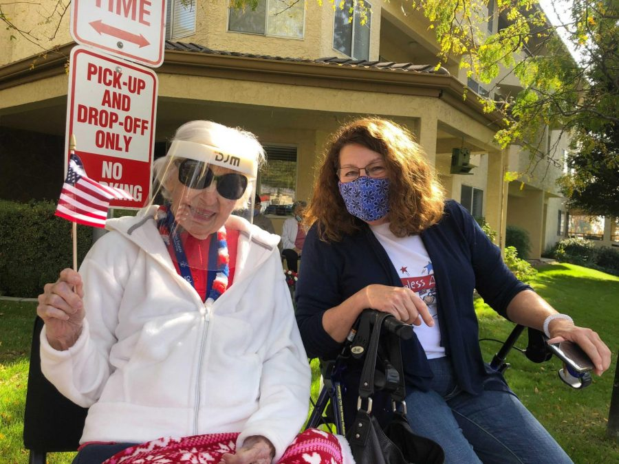 Berta Angello and her daughter Susan Staddard posing for a picture at the Veterans Day Drive on Nov. 11.
