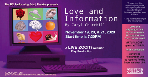 "BC will present a virtual play production ""Love and Information"""