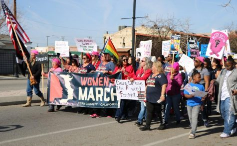 Supporters march through Mill Creek Park in the 2019 Women