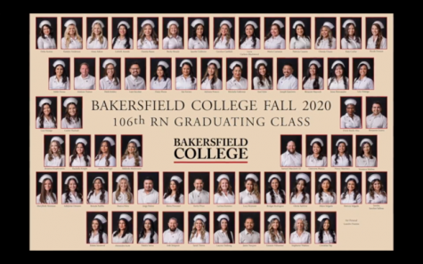 Bakersfield College celebrates the 63 RN graduating class of students from Fall of 2020.