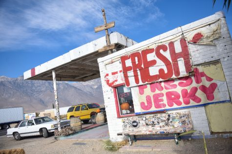 The oldest Gus Fresh Jerky location in Olancha, California.