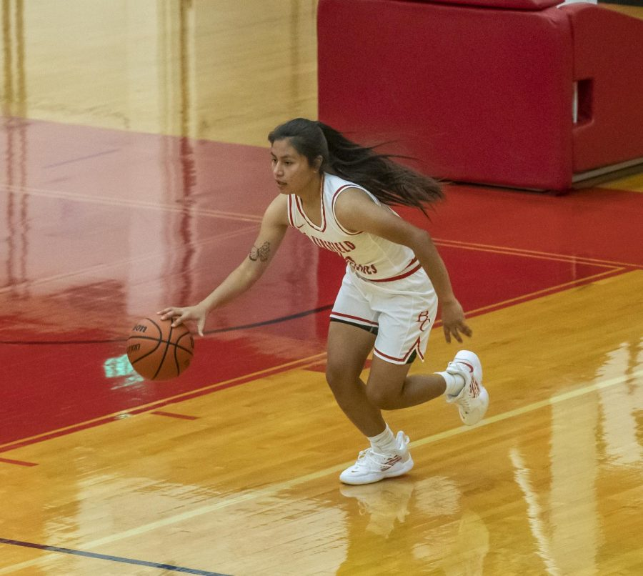 BC Women's Basketball player, Laura Arciga (1), during the March 27 game.