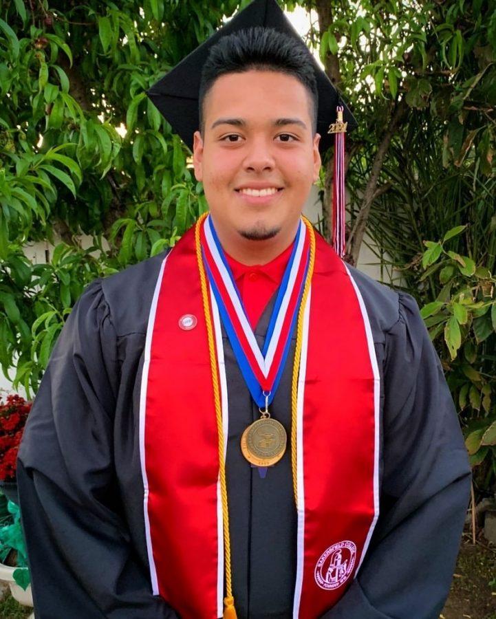 Edward Alexander Heredia a fire technology major graduate class of 2021.