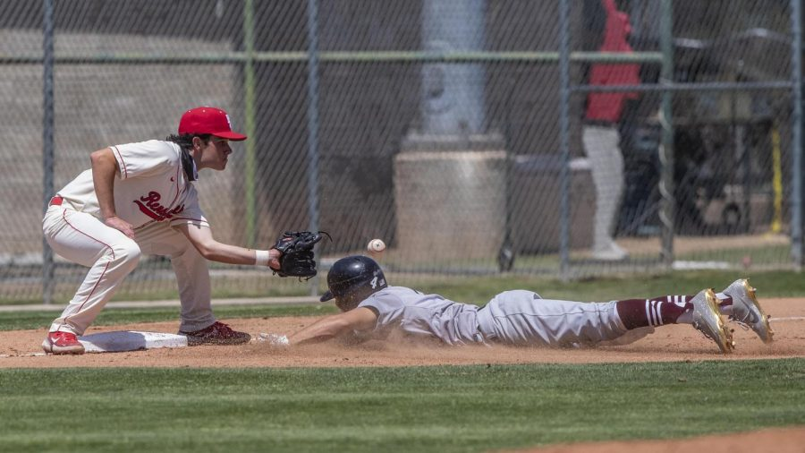 Infielder Garret Pavletich of Bakersfield College's Renegades played against Antelope Valley College's Marauders on April 29.