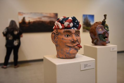 """Professor Darrin Ekern artwork titled """"False Flag"""" at The Wylie and May Louise Jones Gallery"""