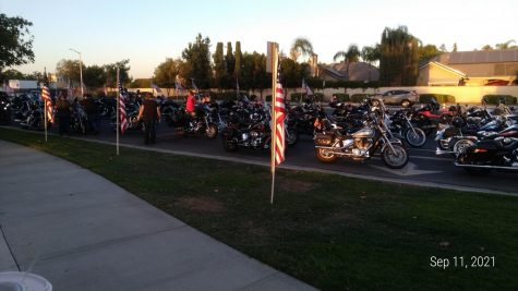 Local bikers who arrived to pay their respect for the twentieth anniversary of Sept. 11.