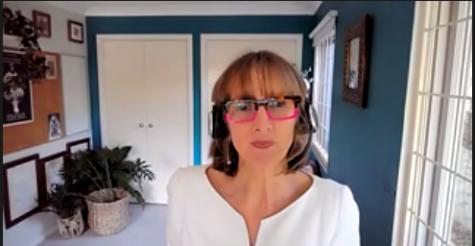 Dr. Pamela Douglas talks about the importance of sleep for infants during the webinar.
